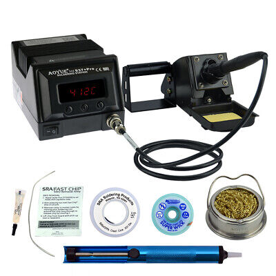 Aoyue 937+ Kit  includes 45 Watt Soldering Station, Solder Wire, Flux and much m