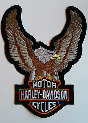 Harley Davidson Motorcycle Bikers Embroidered Sew/Iron On Patch Patches 8x11cm