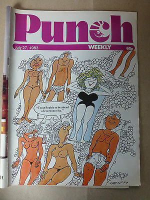 PUNCH MAGAZINE JULY 27th 1983 Birthday Present Idea Punch SUN BATHING