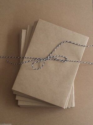 120 Envelopes Kraft Craft Recycled Brown C6 Quality Weight Natural Envelope