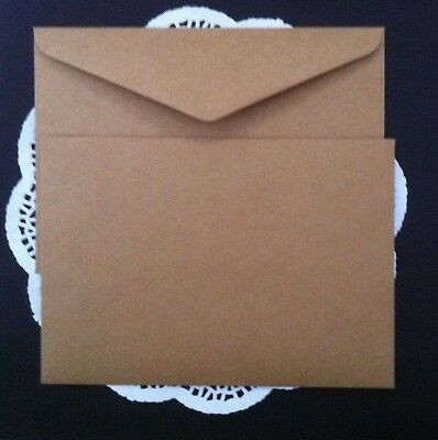 35 Envelopes Kraft Craft Recycled Brown C5 120GSM Thick Fits 1/2 A4