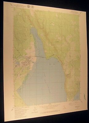 Chester California Peninsula Village 1979 vintage USGS original Topo chart map