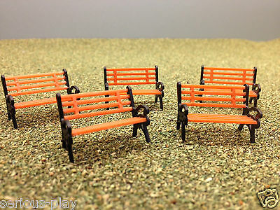 Model Benches - Railway Park Bench Scenery Garden Platform Seats Architecture oo