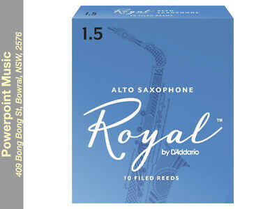 Rico Royal Alto Sax Reeds Box of 10 # 1.5 Strength *BRAND NEW* Free Postage