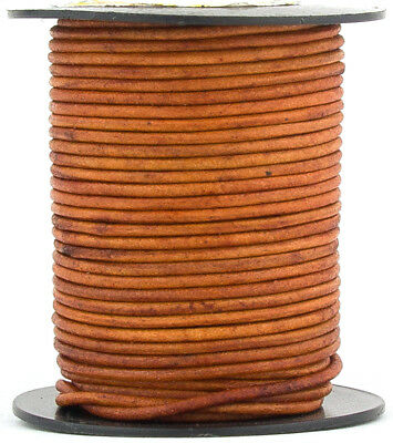 Xsotica® Brown Light Natural Dye Round Leather Cord 2mm 10 meters(11 yards)
