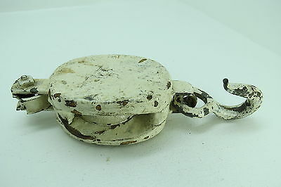 2 Inch Wood Bronze  Pulley Block And Tackle Pully Sail Boat (#167)