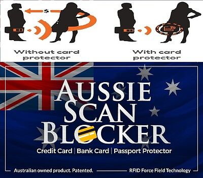 3 X RFID BLOCKING CARDS - AUSSIE SCAN BLOCKER - Protect Credit & Debit Cards