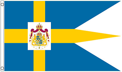 Sweden Royal Standard 5'x3' Triple-Tailed Flag