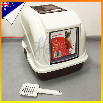Cat Litter Box Tray Pet Toilet  Portable Hooded House Handle Scoop Carrier