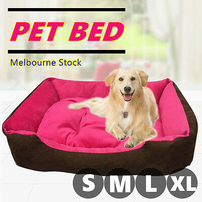 Hot Pink Soft Pet Bed Mattress Dog Cat Pad Mat Cushion Pillow Warm Extra Large M