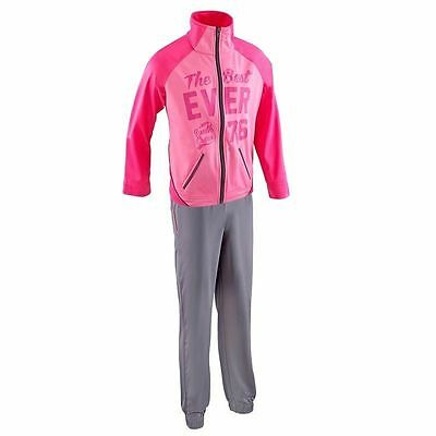 DOMYOS Girls Gymnastics/Training Suit/Tracksuit/ Playsuit/ Jumpsuit Sportswear