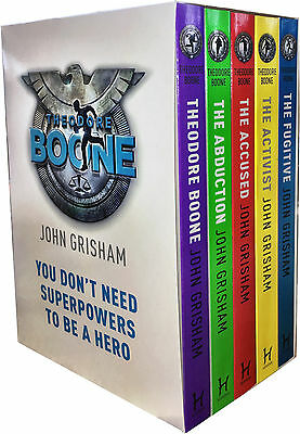 John Grisham Theodore Boone Series Collection 5 Books Box Set Fugitive, Accused