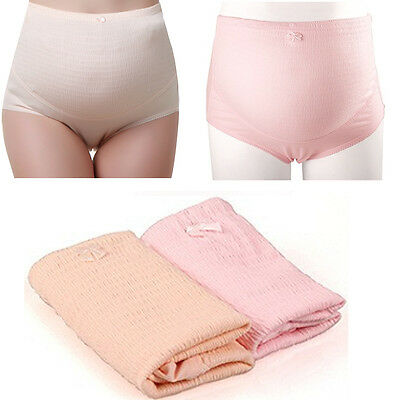 Women Pregnant Underpants High Waist Underwear Care Briefs Maternity Panties TY