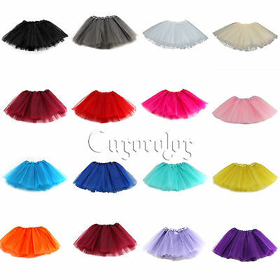 Girls Dance Tutu Skirt Princess Ballet Dance Skirt Tulle For 2-8 Years Dress Up