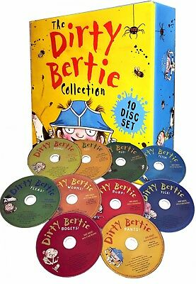 Dirty Bertie Audio Collection 10 CDs Box Set David Roberts Childrens Gift Pack