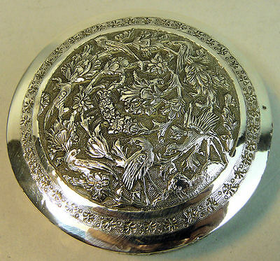 Antique Persian Silver Trinket Box & Cover 84 Grams  C.1900
