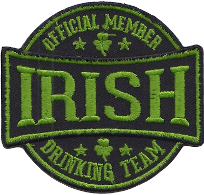 Ireland Irish Official Member Drinking Team Flag Embroidered Patch Badge