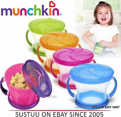Munchkin Baby self-feed Easy Grip Snack Catcher Toddler Food Bowl +12 Months
