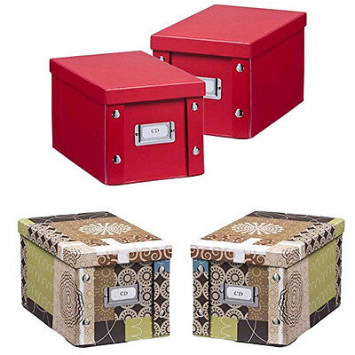 2er set zeller cd box aufbewahrungsbox kiste f r 40 cds pappe aufbewahrung box eur 11 45. Black Bedroom Furniture Sets. Home Design Ideas