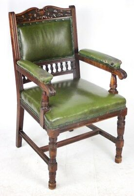 Victorian S. J. Waring and Sons Carved Mahogany Armchair [PL2095]