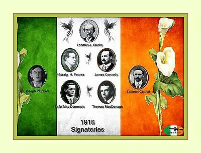 Easter Rising 1916 Ireland 7 Leaders 100th Anniversary  8x10 Matted 5x7 print