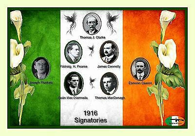 Easter Rising 1916 Ireland 7 Leaders 100th Anniversary 11x14 Matted 8x12 print