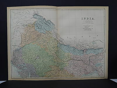 Antique Map, Black's, 1862 India, Two Double Pages M7#55