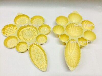 Set Of 2 Pistachio & Dates Maamoul Plastic Mould 9 Different Designs in oneمعمول