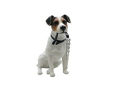 Leonardo Collection Walkies Jack Russell Sitting Dog With Lead In Mouth Figurine