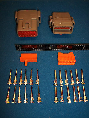 12-Way Deutsch DTM connector kit