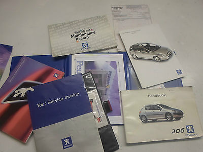 Peugeot 206 Owners Manual Hand Book 1998 To 2002 Free P&p
