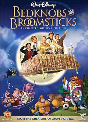 Bedknobs And Broomsticks Dvd - Enchanted Musical Edition - New Unopened