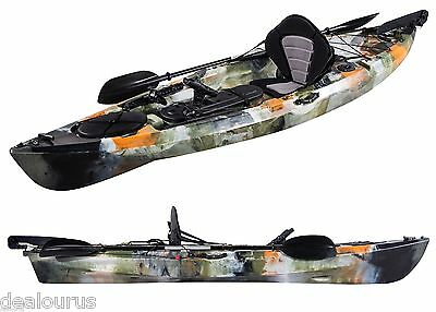 Pro Dace Angler Prowler Single Ocean Fishing Kayak Sea Conoe Package Jungle Camo
