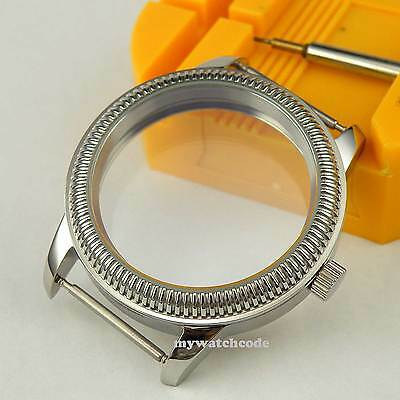 44mm vintage CASE 316L stainless steel fit 6498 6497 eat movement Watch C7