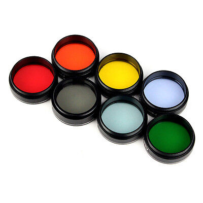 """1.25"""" Color planetary telescope eyepiece filters Kit Planetary & Moon Filter UK"""