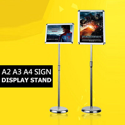 A2 / A3 / A4 Floor Poster Stand Foyer Pedestal Sign Holder Business Menu Display
