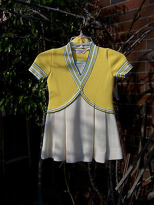 Vintage Piccolino Girls Dress Size 5 with matching coat and hat