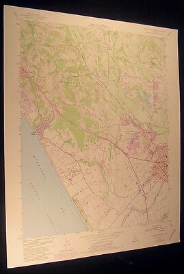 Watsonville West California Freedom 1981 vintage USGS original Topo chart map