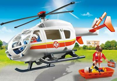 Playmobil 5183 - Police Helicopter with LED Spotlight City Action
