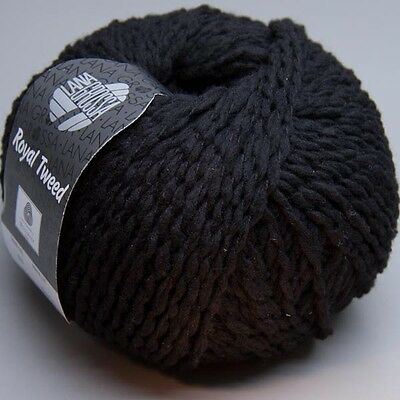 Sonderaktion: Lana Grossa Royal Tweed 020 schwarz 50g (8.90 EUR pro 100 g)