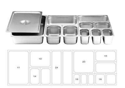 S/steel Container Gn Pan Full Ranges