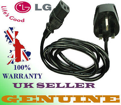 New Genuine LG 42LK450u Power Cable Cord Lead for Lcd Tv Plasma UK CE Approved