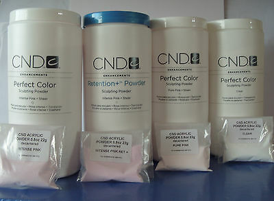CND CREATIVE NAIL DESIGN ACRYLIC POWDER 22g  CLEAR/PINK/WHITE decanted UK seller