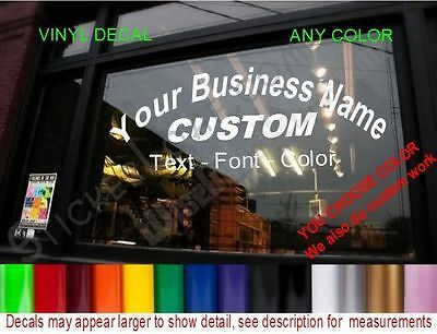 LARGE Arched CUSTOM WINDOW 3 line DECAL BUSINESS SHOP cafe restaurant bakery
