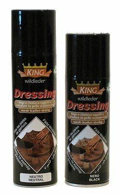TINTURA SPRAY CAMOSCIO KING DRESSING  200 ml. COLORI VARI