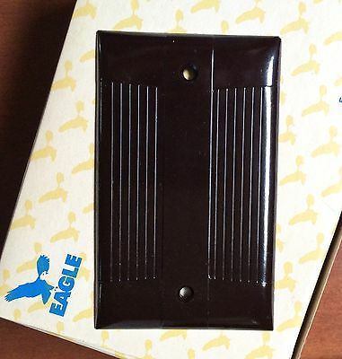 Vintage Bakelite EAGLE Brown Blank Wall Plate (More available) MID-CENTURY