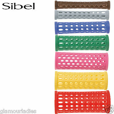 Sibel 10 Pack Plastic Setting Rollers Hair Pin Curls Various Sizes and Colours