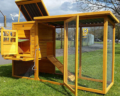 Eco Chicken Coop Run Hen House Poultry Ark Home Nest Box Coops Rabbit Hutch