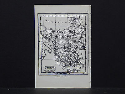 Miniature Map, c. 1850 #18 Turkey in Europe