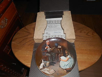 Norman Rockwell The Storyteller Knowles Collectible Plate w/ COA